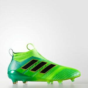 Adidas ACE 17+ PureControl FG Football Shoes Soccer Cleats GreenBlack BB5950
