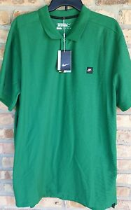 New Men's Nike  Golf Fit Dry Green Polo  SS Shirt Size XXL 2XL dri fit NWT