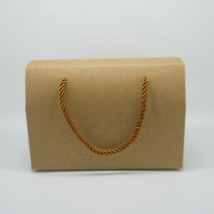 Kraft Paper Box with String for Wedding Favor Bakery Biscuit Chocolate Cookie