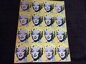 Marilyn Monroe Vintage Repro Poster Print Andy Warhol Pop Style Hot Wall Art