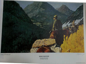 HOWARD TERPNING PRINT 295 of 999 HIGH COUNTRY PAINTED FOR WINCHESTER 1975 ~~ VGC