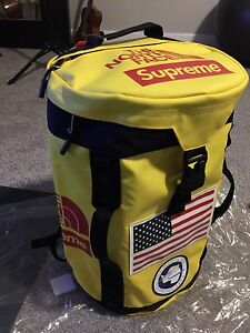 Supreme X North Face Trial Big Haul Backpack SS 2017 Yellow