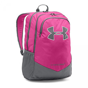 Under Armour Backpack Girls Pink Laptop Kids School UA Storm Scrimmage Polyester
