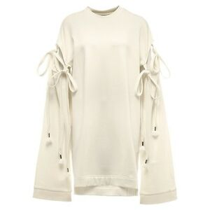 Fenty Puma By Rihanna Women Staggered Hem Sweater Dress white vanilla ice