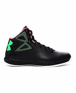 Under Armour 1265440-002 Boys Grade School UA Rocket Basketball Shoes 7 Black