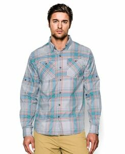Under Armour 1259067100LRG Mens UA Chesapeake Patterned Long Sleeve Shirt L