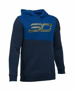 Under Armour 1281175-410 Boys SC30 Essentials Hoodie 14-16 Big Kids Midnight