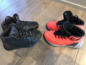 Under Armour Stephen Curry Boys Shoes Size 1 - Includes TWO PAIR!!