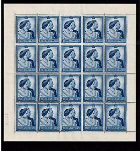 GEORGE VI  £1 1948 SILVER WEDDING COMPLETE SHEET  MNH ABSOLUTELY SUPERB SG494