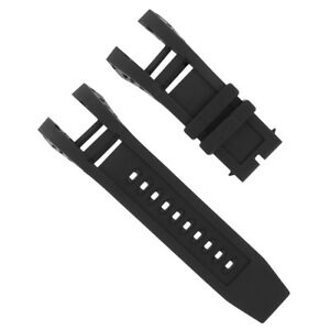 BLACK Color SILICONE RUBBER WATCH BAND STRAP FOR INVICTA SUBAQUA NOMA IV NOMA 4