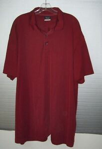 Nike Golf Fit Dry Short Sleeve Polo Golf Shirt Maroon 3XL Dark Red Burgundy
