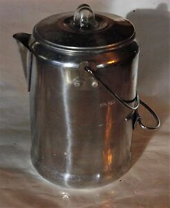 Vintage Coleman Coffee Pot  Nine Cup Aluminum 2000016428 EUC