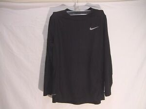 Nike Dry Fit Shirt Size Youth Medium Boys Youth Black Long Sleeves