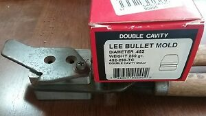 Lee 2 cavity bullet mold 90290  452-230-TC