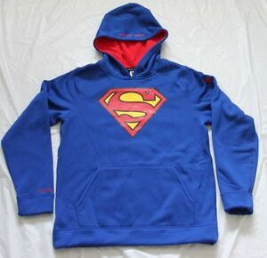 UNDER ARMOUR BOYS' STORM HOODIE ROYAL BLUE SUPERMAN YOUTH XLARGE