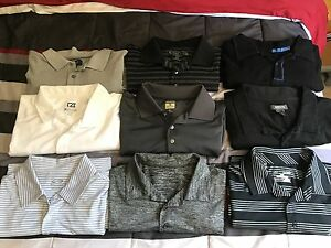 Bundle of Golf Collar Shirts Under Armour Pebble Beach Kenneth Cole LXLM