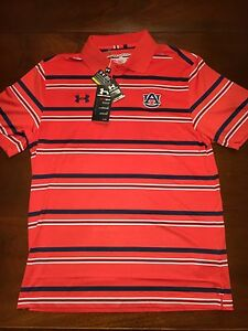 NWT Under Armour Auburn Tigers Polo Size M Heatgear Fathers Day