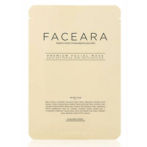 FACEARA Premium Facial Mask Sheet for Scrub & Super Moisturizer 25g 50pcs Set