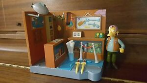 The Simpsons Series 13 Playset Military Antique Shop with Herman!