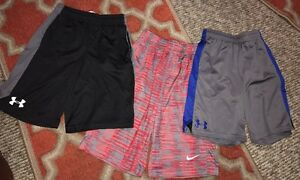 Under Armour Nike Youth Gym Fitness Shorts Multicolor Size Medium