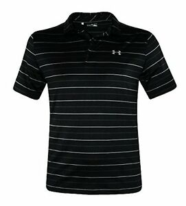 Under Armour Men's UA Performance Polo Shirt UPF30 Anti Odor Striped Top