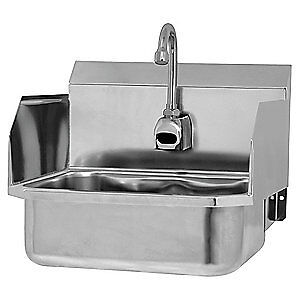 SANI-LAV Hand Sink16 In. L15-14 In. W13 In. H ES2-607L Silver