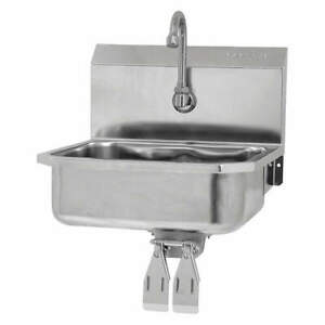 SANI-LAV Mount Sink16 in. L x 13 in. H 605D Stainless Steel