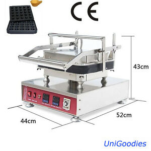 Egg Tarte Pie Waffle Machine Maker Automatic 25Cup Non Stick Commercial Dessert