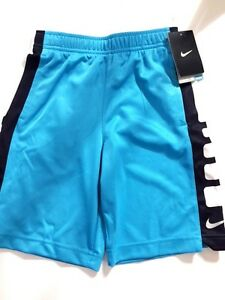 Nike Dry Fit Boy's Elite Stay Cool Athletic Shorts Size 7 Omega Blue