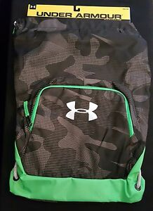 Under Armour Exeter II Sackpack GreenBlack Unisex Gym Workout
