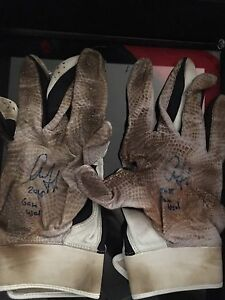 Aaron Judge Autographed Under Armour Game Used Batting Gloves