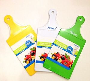Pillsbury + Gourmet Plastic Cutting Board with Handle & Hole to Hang - 4 Colors