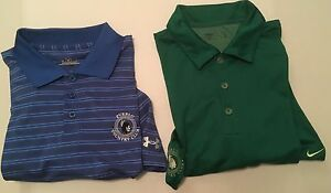Lot 2 Men's Nike Under Armour Golf Polo Shirts Pueblo Country Club Medium SS