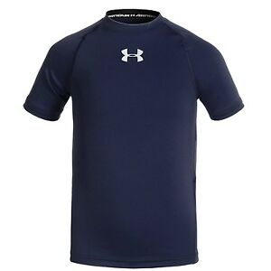 Under Armour Heatgear UPF 30 Short Sleeve STRETCH Shirt Toddlers Boys size XS S