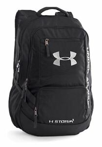 NWT Under Armour Storm1 Hustle II Backpack Black Water Resistant