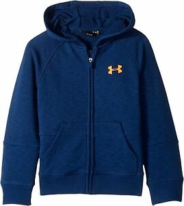 Under Armour Kids  Boy'S Color Block Hoodie (Little KidsBig Kids) Blackout Navy