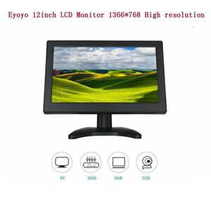 Eyoyo 12inch TFT LCD Monitor HDMI Video VGA TV AV 1366*768 High Resolution Black