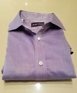 RALPH LAUREN PURPLE LABEL RLPL SPRING SUMMER SPORT SHIRT MADE IN ITALY SIZE S