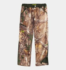 NEW UNDER ARMOUR 1248463 COLDGEAR INFRARED REALTREE CAMO HUNTING PANTS YOUTH MED