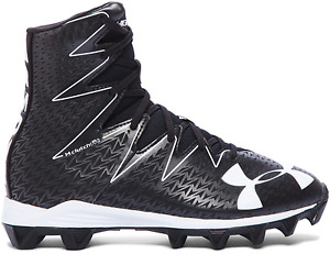 Under Armour UA Highlight RM Jr Youth Football Cleats Shoes BlkWht 1269697-001