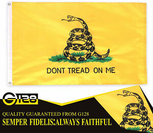 3'x5' ft, Gadsden Don't Tread on Me Flag US USA | DOUBLE SIDED Embroidered
