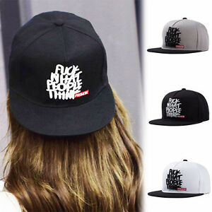 Women Men Letter Embroidery Baseball Cap Snapback Hip Hop BBoy Hat