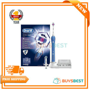 Oral-B Smart Series 4000 Electric Rechargeable Toothbrush Powered By Braun-White