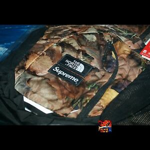 Supreme x The North Face Leaves Pocono Backpack Bag PCL FW16 Camo Power Orange