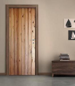 Wood Planks DOOR WRAP Removable Decal Wall Sticker Mural Wood Panels D181