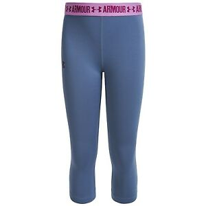 UNDER ARMOUR HeatGear Youth Girl's Solid Capri Leggings - UPF 30 size XS