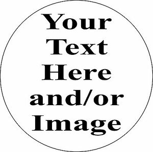 Personalized 8quot; Circle Aluminum Metal Sign Customize with Text or Picture $10.00
