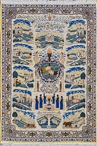 RUG OF SHAH FOR REVOLUTION OF 1972 PERSIAN HAND WOVEN ONE OF A KIND 10X13