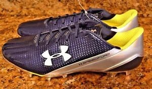 $130 Under Armour UA SPEEDFORM MC Football Cleats 1258013-412 Men 13 BlueChrome
