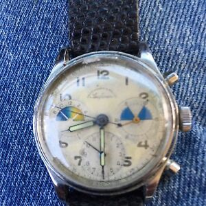 ABERCROMBIE & FITCH Early 1950s Heuer   First Version! SEAFARER     No Reserve.